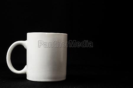 kaffeetasse isoliert auf schwarz