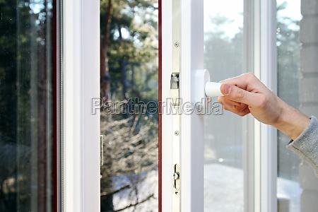 hand aben plastic pvc vindue