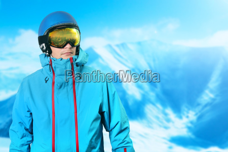 snowboarder on the top of the