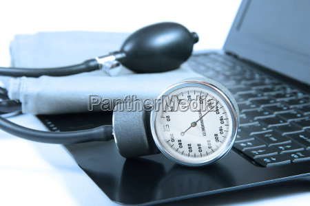 blood pressure instrument on a computer