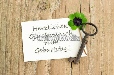 german lettering text birthday card happy