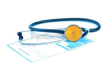 stethoscope and prescription