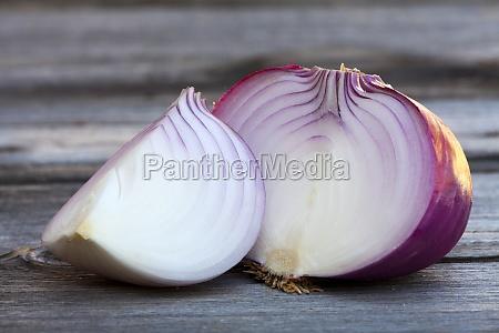 big red onion close up