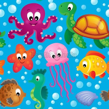 seamless background sea theme 2