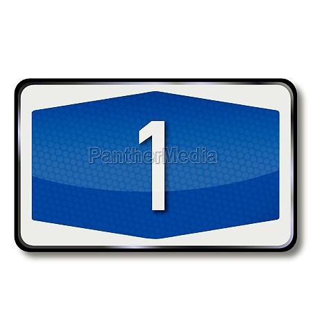 autobahnschild a1