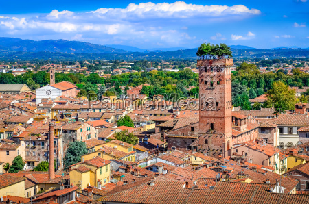 scenic view of lucca and guinigi