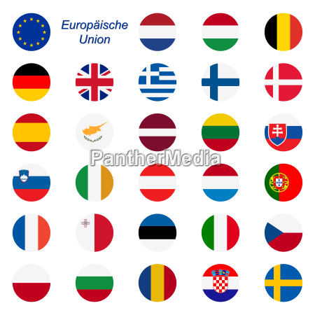 eu mitgliedstaaten flaggen rund