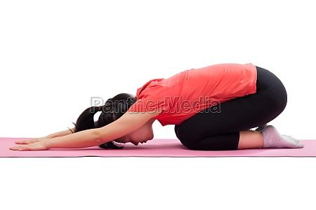 frau freisteller posieren abgeschieden uebung yoga