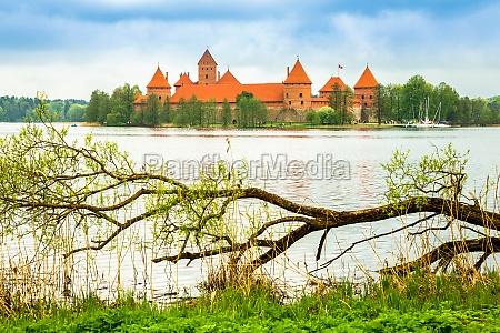 mittelalterliche alte burg in trakai litauen