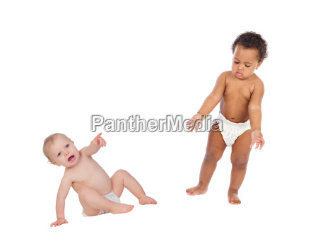 two funny babies