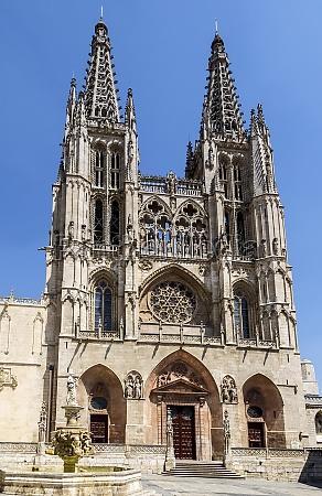 kathedrale in burgos spanien