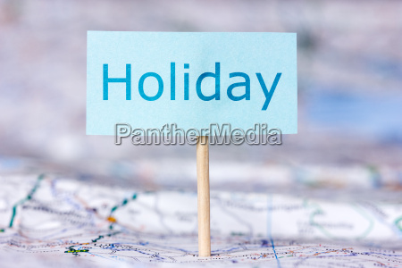 map with note about holiday