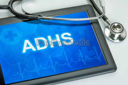 tablet with the diagnosis of adhd
