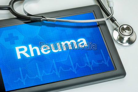 tablet with the diagnosis of rheumatism