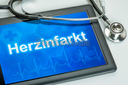 tablet with the diagnosis of heart