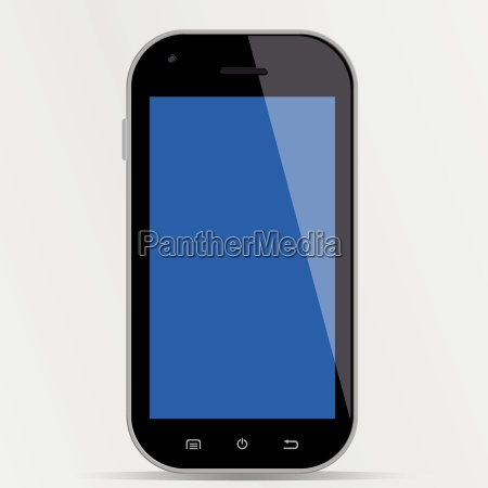 smartphone mit blauem display