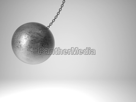 swinging metal ball