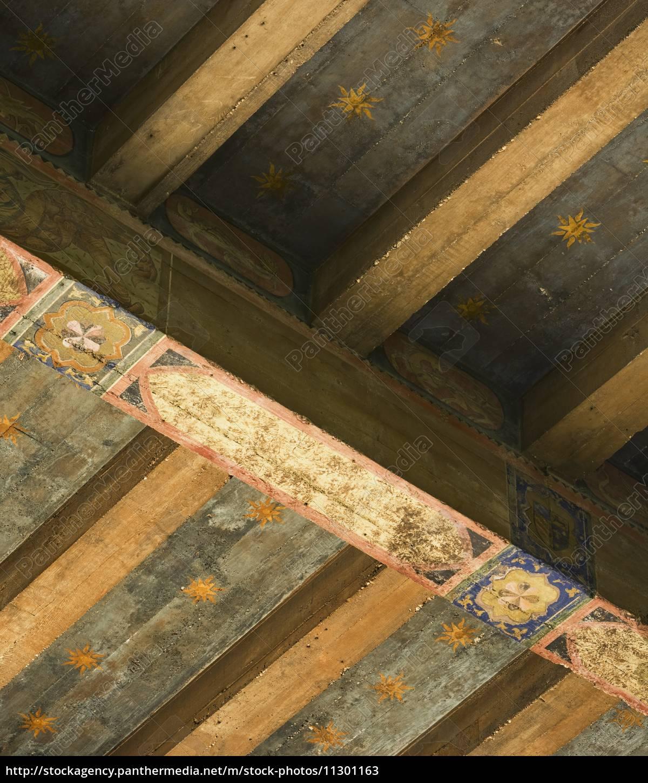 detail handgemalte deckenbalken - lizenzfreies bild - #11301163