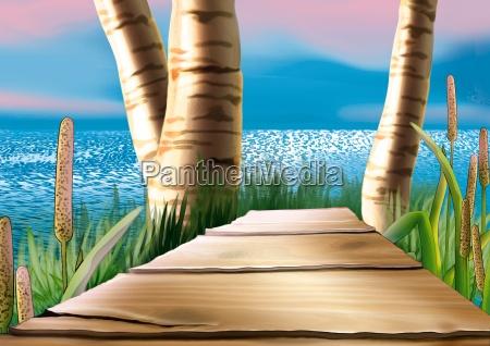 coastal, wood, footbridge - 11311115