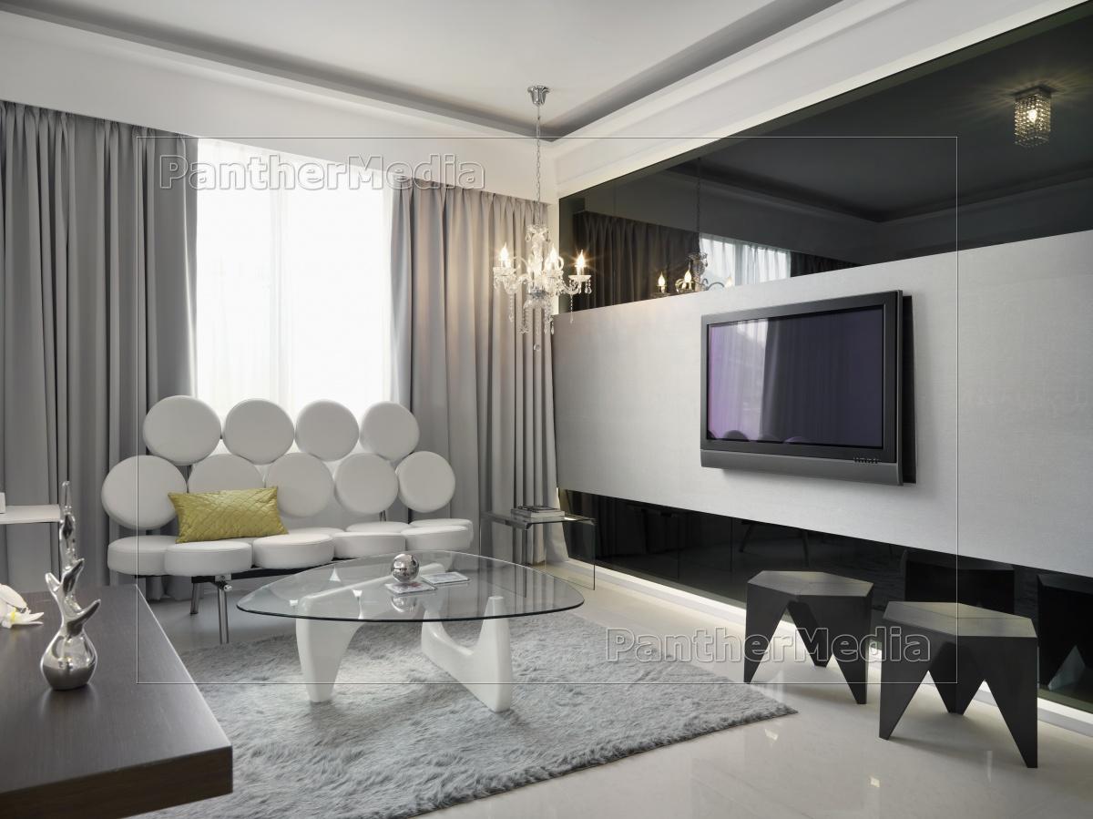Modern Retro Wohnzimmer Lizenzfreies Bild 11320801