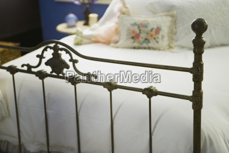 wrought iron footboard