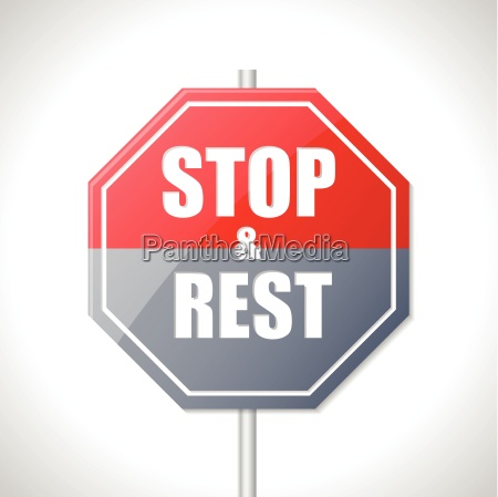 stop and rest sign