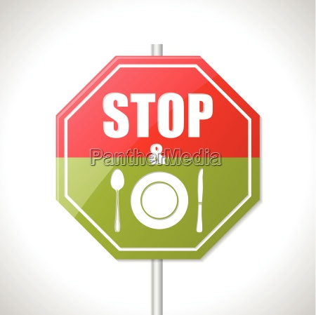 stop and eat sign