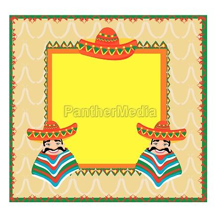 mexican frame mit mann in einem
