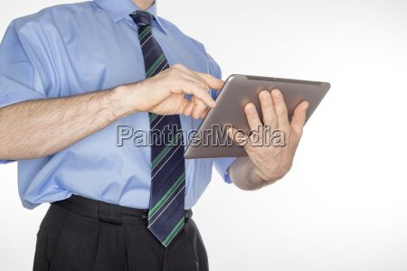 businessman with pad pc