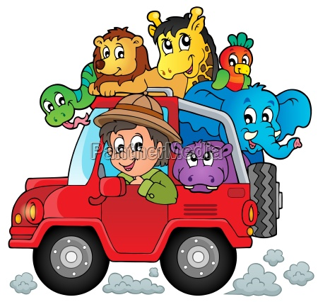 auto mit reisenden thema 2
