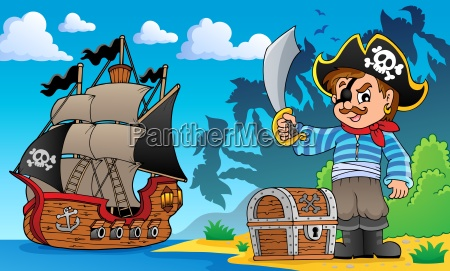 pirate on coast theme 1