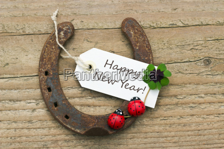 text lettering english card happy new