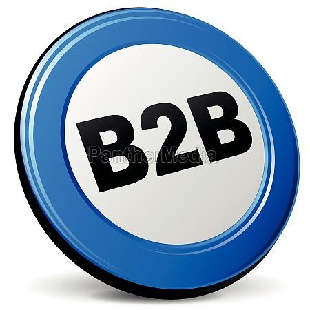 vector 3d b2b icon