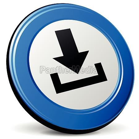 vector 3d download icon