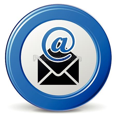 vector round mail icon