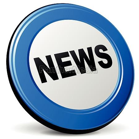 vector 3d news icon