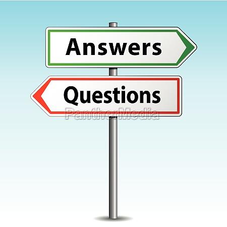 antworten und fragen zeichen