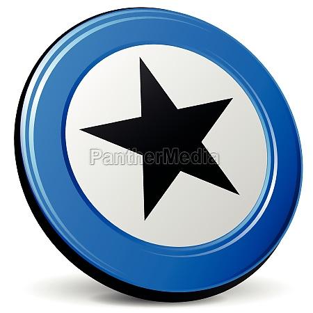 vector 3d star icon