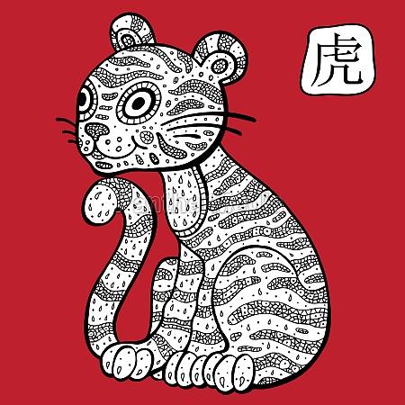 chinesischer sternzeichen tierische sanische astrologische zeichen