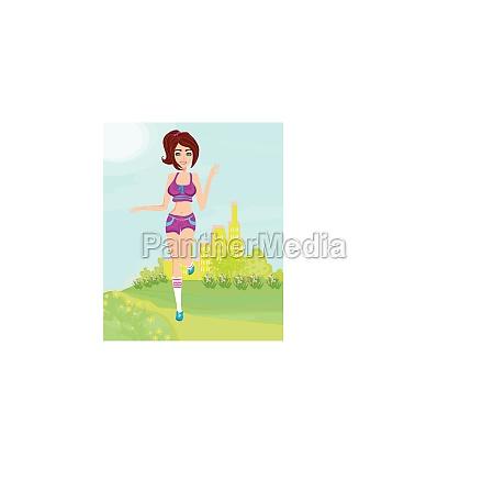 joggingmaedchen im sommer