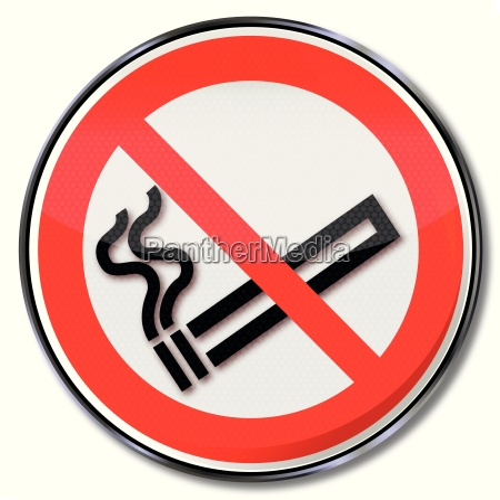 verbotsschild rauchverbot