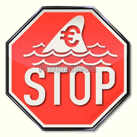 stop sign with dorsal fin of