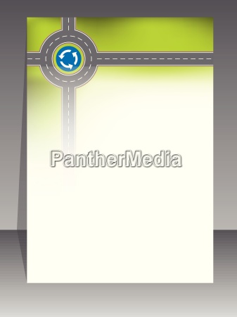 abstract brochure design with road