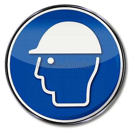 use gebotszeichen head protection