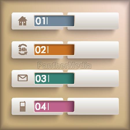 4 banner retro background infographic piad