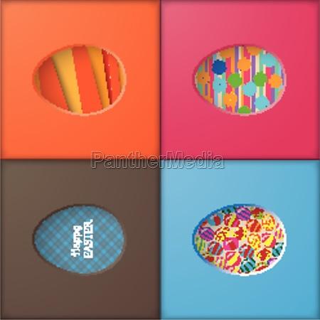 4 easter eggs holes