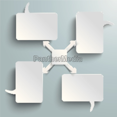 4 rectangle speech bubbles centre 4