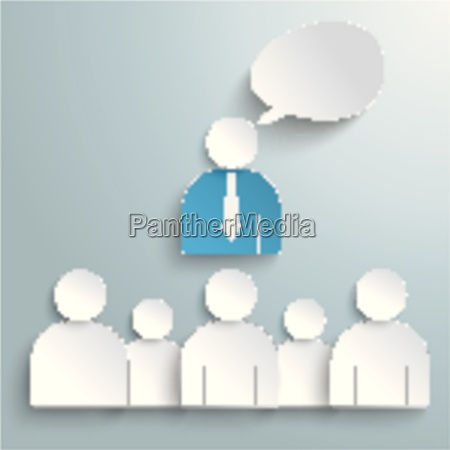 business conference humans speech bubble piad