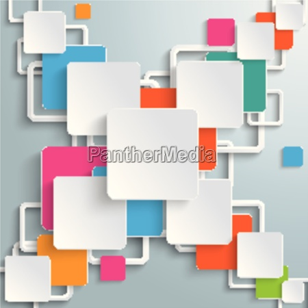 colorful rectangles squares cross design