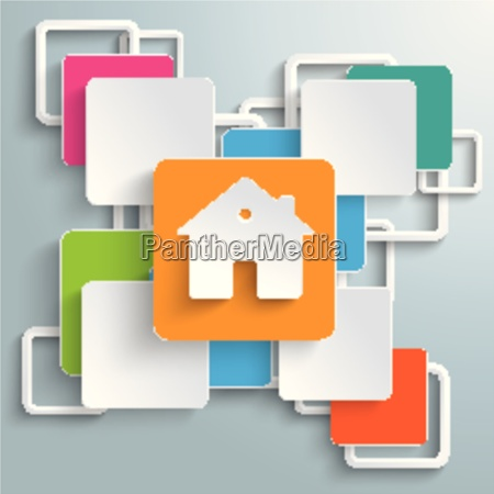 colorful rectangles squares cross house piad